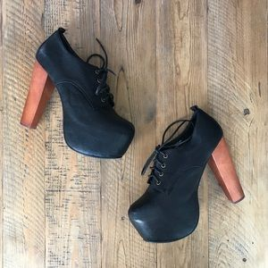 Jeffrey Campbell 'Fairlane' Black Platform Booties